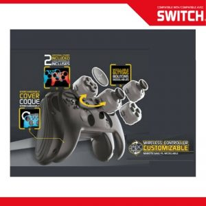 NSW SWITCH WIRELESS CUSTOMIZABLE CONTROLLER + 2 CASES