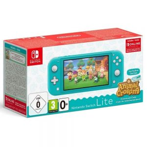 Nintendo Switch Lite Console Turquoise + Animal Crossing