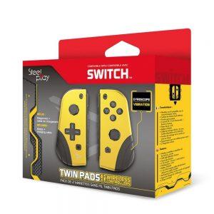 Nintendo Switch kontroleri STEELPLAY - TWIN PADS - SET OF 2 WIRELESS CONTROLLERS -YELLOW (SWITCH)
